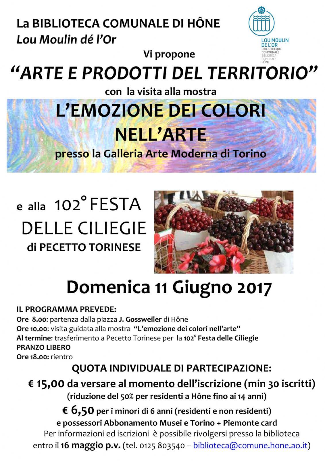 """Comune Di Pecetto Torinese arte e prodotti del territorio"""" - l'emozione dei colori nell"""